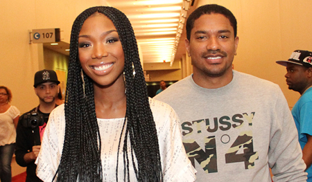 Brandy & Fiance Ryan Press
