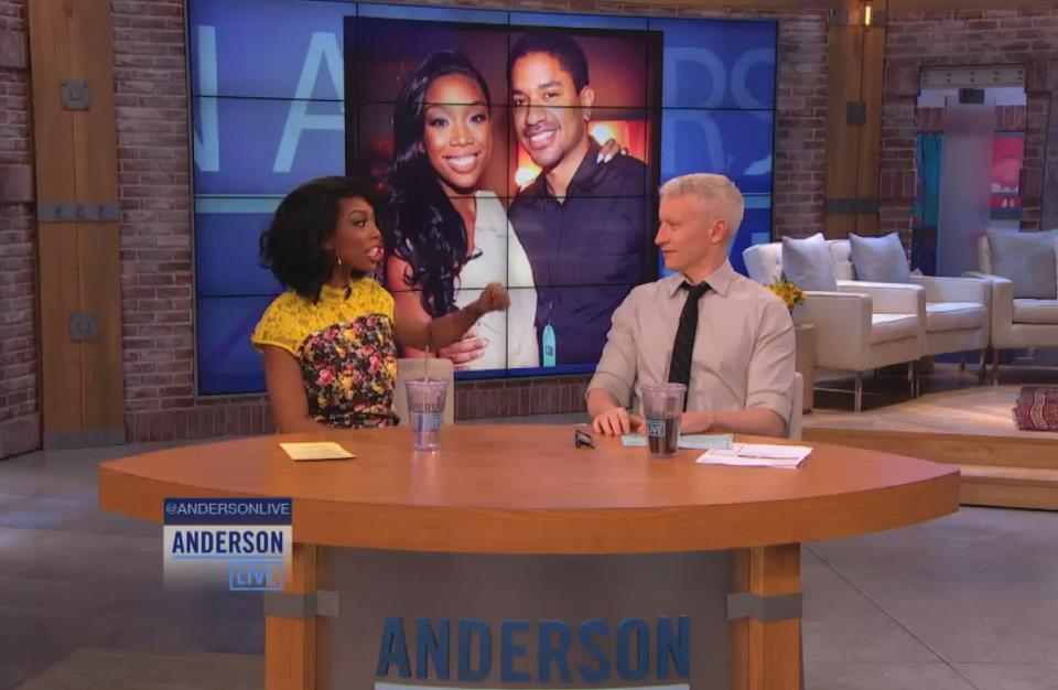 Brandy and Anderson Cooper - Anderson LIVE