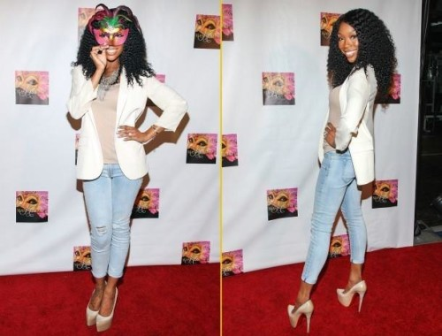Brandy at Kym Whitley Party