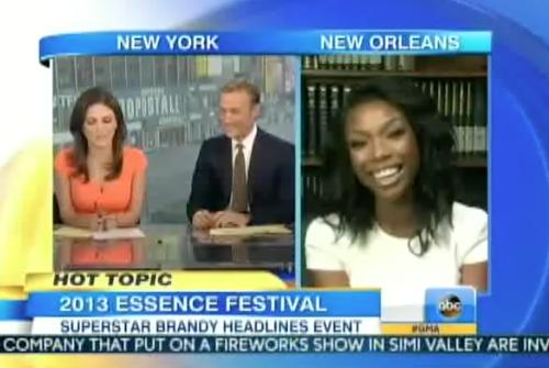Good Morning America Saturday Edition : Video brandy on good morning america talks essence