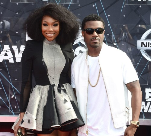 Brandy and Ray J at BET Awards 15'