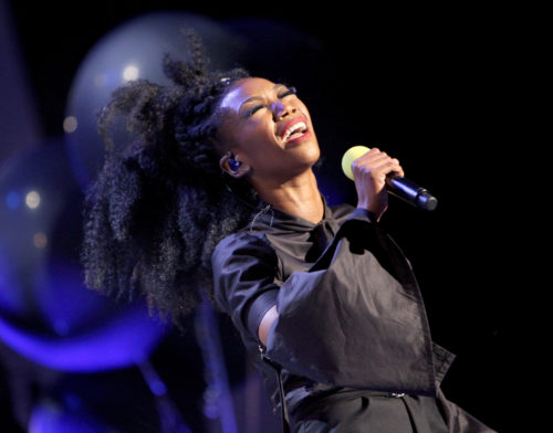 LAS VEGAS, NV - NOVEMBER 06: Singer Brandy performs onstage during the 2016 Soul Train Music Awards at the Orleans Arena on November 6, 2016 in Las Vegas, Nevada. (Photo by Leon Bennett/BET/Getty Images for BET)